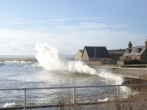 English: High Tides Glorious day with a really...