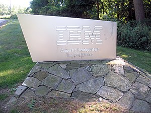 Entrance of IBM Headquaters, Armonk, Town of N...