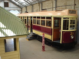English: Restored no.29 tram in Launceston Tra...