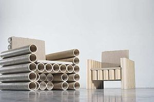 The environment friendly paper tube chair by M...