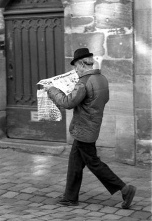 newspaper reader