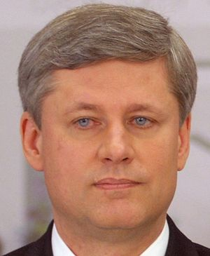 The Canadian Prime Minister, Stephen Harper. T...