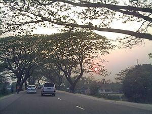 English: Sunset at Elliotganj, a journey on Co...