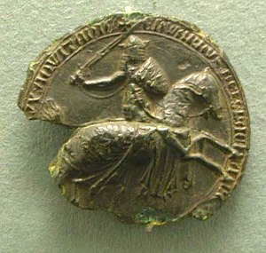 English: The Great Seal of Edward III (second ...