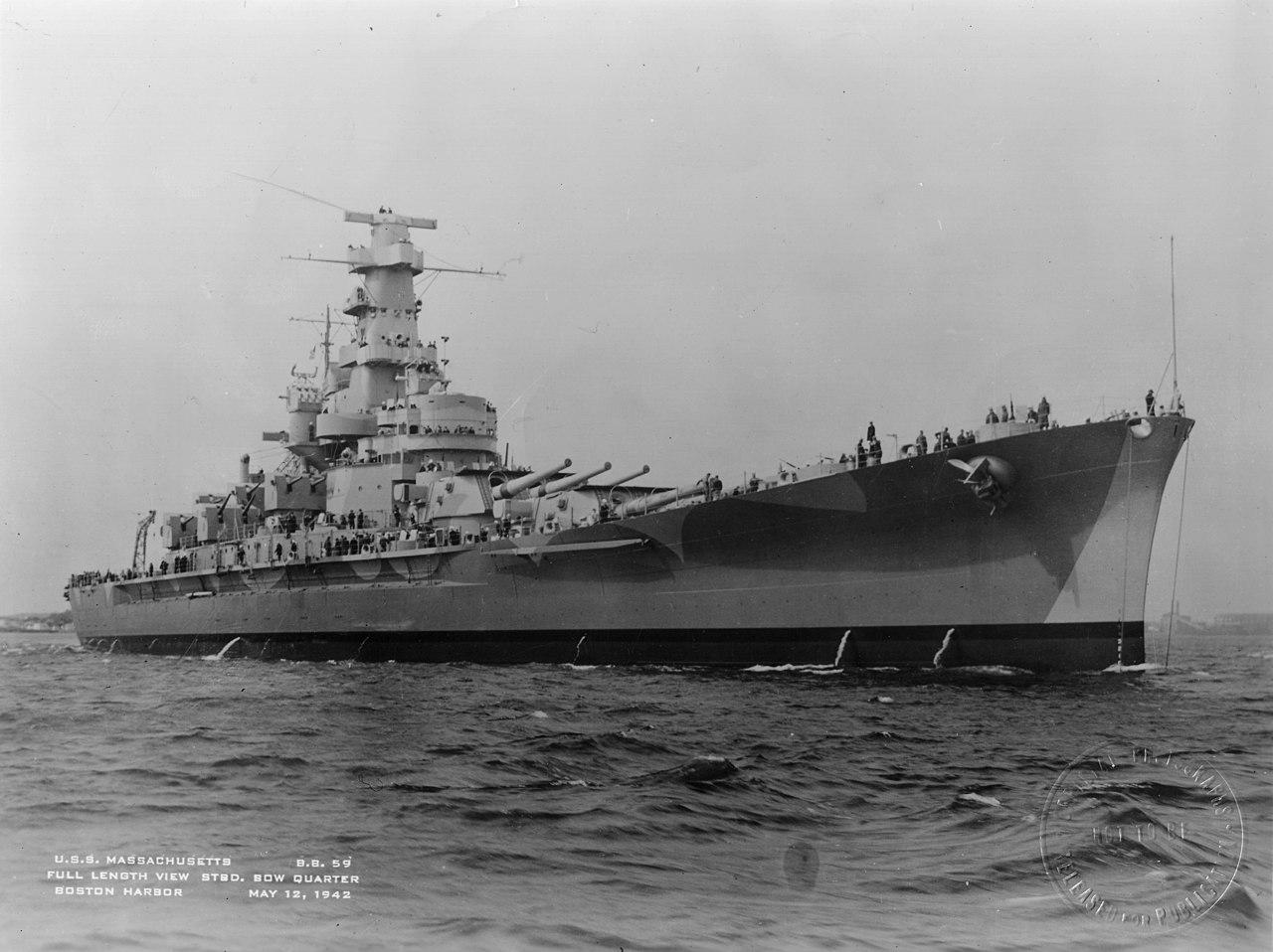 File:USS Massachusetts BB-59 5-12-1942 Boston Harbor.jpg - Wikipedia