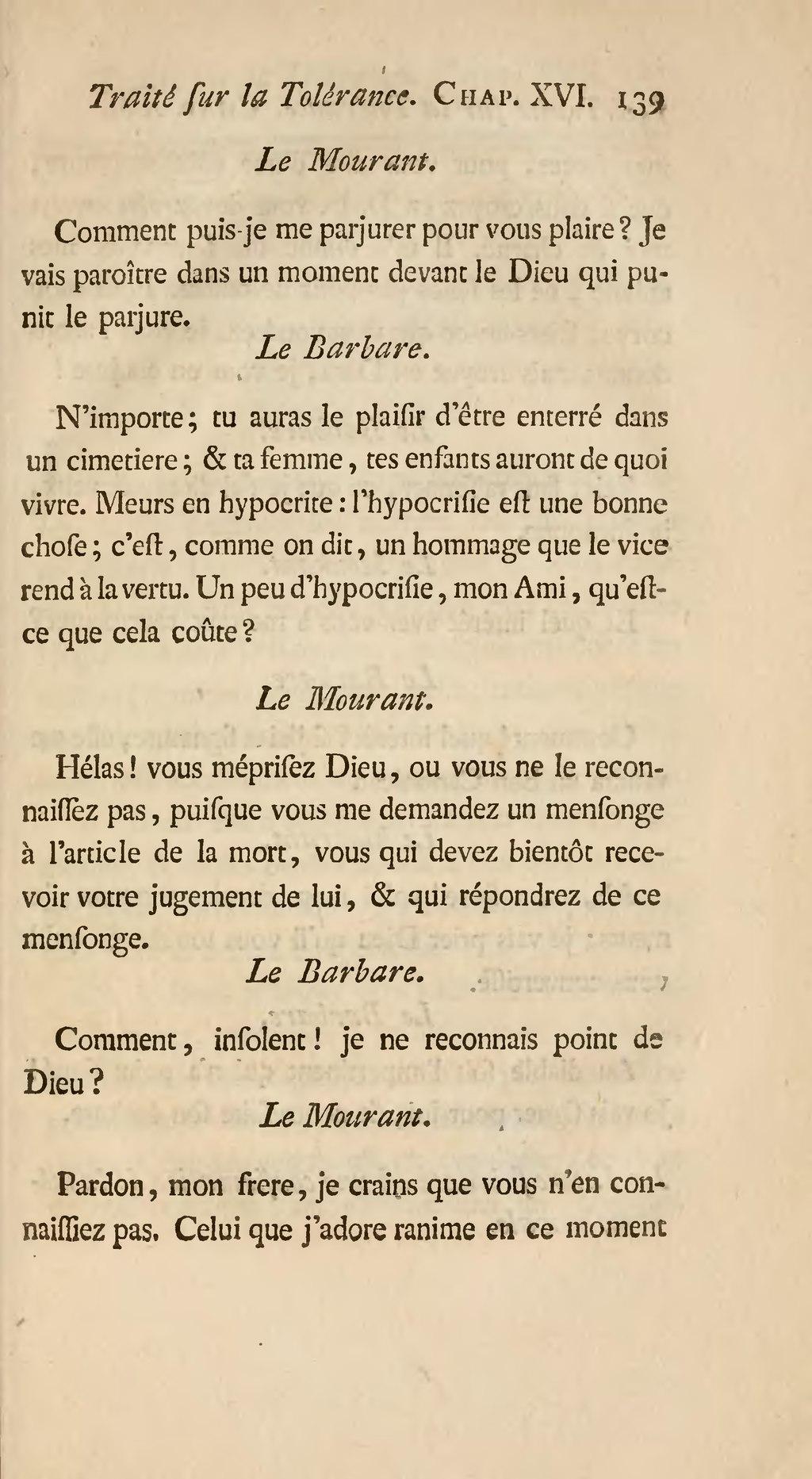 L'hypocrisie Est Un Hommage Que Le Vice Rend à La Vertu : l'hypocrisie, hommage, vertu, Page:Voltaire, Traité, Tolérance, 1763.djvu/149, Wikisource