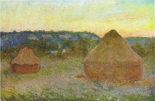 Stacks of Wheat (End of Day, Autumn) by Claude Monet