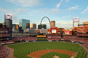 Busch Stadium's view of downtown St.