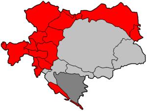English: Map of Austria-Hungary