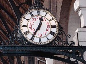 Clock in Kings Cross railway station