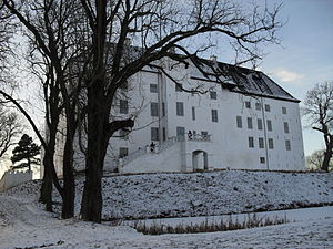 English: Dragsholm castle in Winter