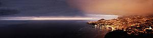English: A five segment panoramical view of Fu...