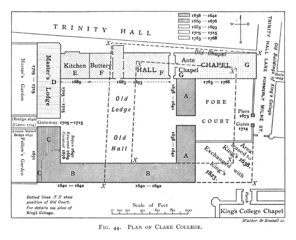 File:Historical plan of Clare College, Cambridge (1897