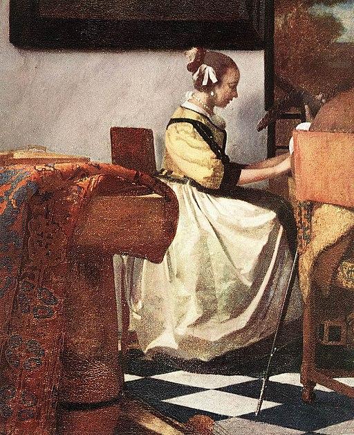 Johannes Vermeer - The Concert (detail) - WGA24671