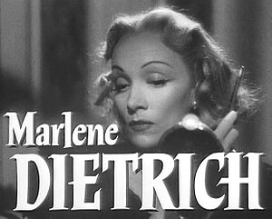 Cropped screenshot of Marlene Dietrich from th...