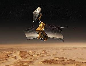 Mars Reconnaissance Orbiter over Mars (concept...