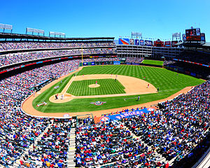 English: The Rangers Ballpark in Arlington.