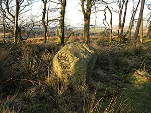 Rocking Stone, Cuff Hill Alas no longer rocks....