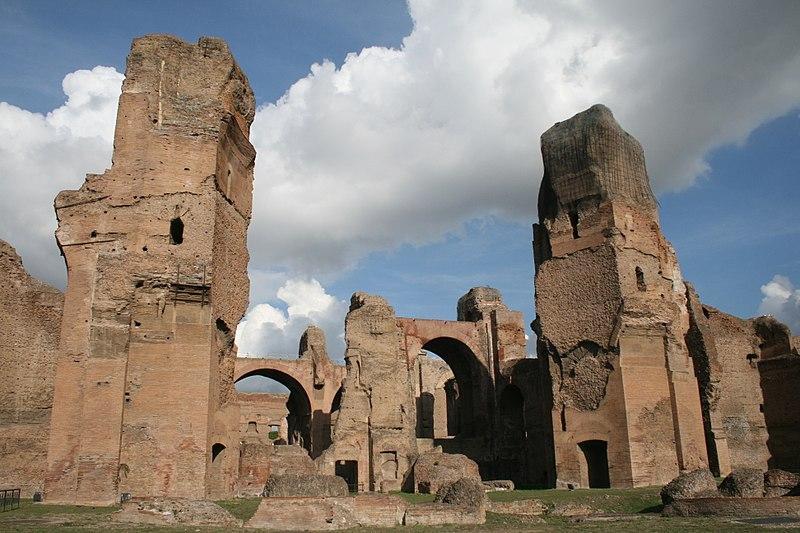 File:Rom Caracalla-Thermen von Süden.JPG