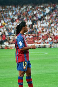 Ronaldinho in 2004.