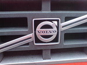 Front side Volvo truck.
