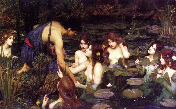 Waterhouse Hylas and the Nymphs Manchester Art Gallery