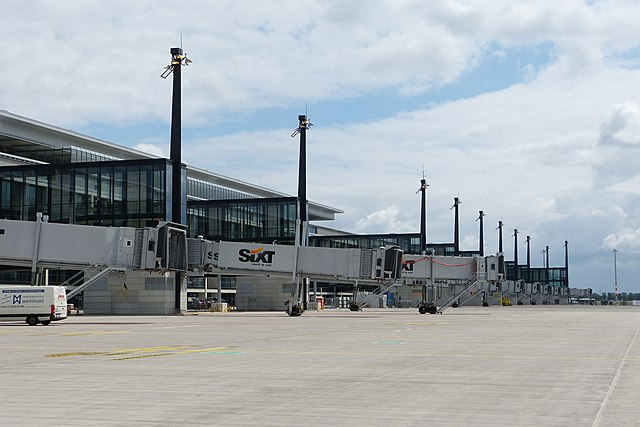 The airport site has no means to switch the lights off, officials have confessed.