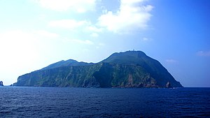 Island and volcano Akusekijima, Ryukyu Islands...