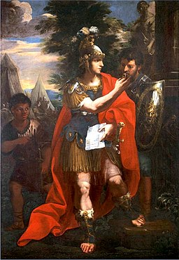 Alexander and Hephaestion, Andrea Camassei (1602-1649)