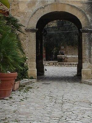 English: Scopello's entrance, Castellammare de...