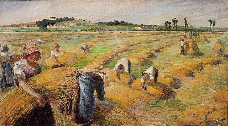 Archivo:Camille Pissarro - The Harvest.jpg