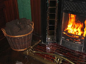 A Fireplace with Peat