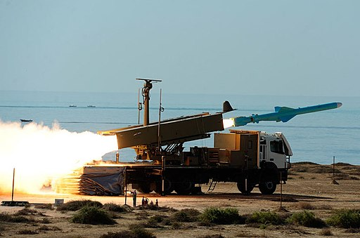 Firing Qader Missile from a truck launcher (2)