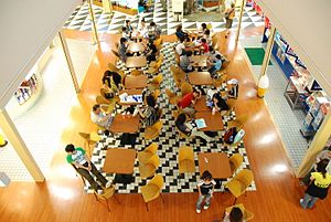 Food court in Japan