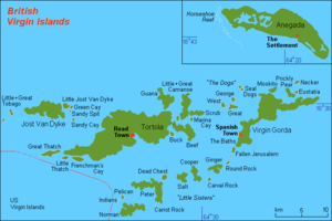 English: Map (rough) GB Virgin Islands, own wo...