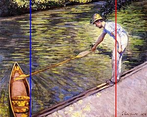 Gustave Caillebotte Boater Pulling on His Perissoire rabatment study.jpg