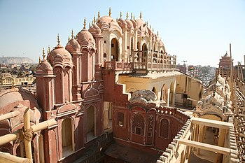Hawa Mahal (Palace of Winds) in Jaipur. From t...