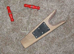Boot hooks and a bootjack, often needed to get...