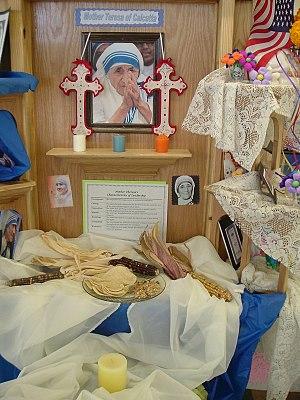 Mother Teresa altar