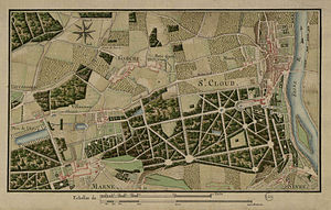 Map of the park of Saint-Cloud