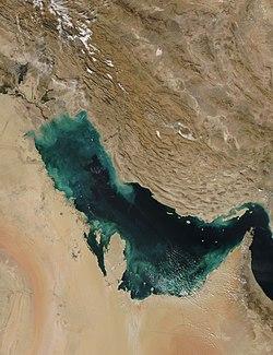 صورة فضائية للخليج العربي