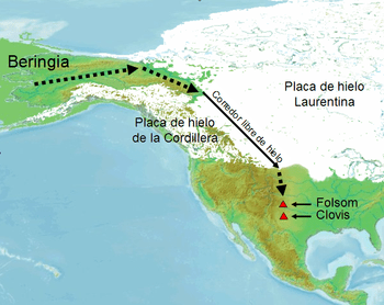 Migratory route of first humans to reach Ameri...