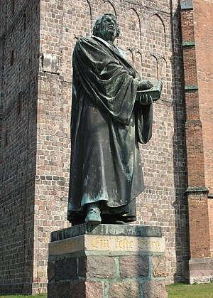 Statue of Martin Luther in Prenzlau in Branden...