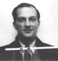 A mug shot style ID photo, with the serial H 0