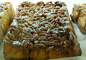 A traditional sticky bun loaf