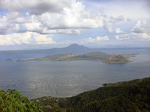 A scenic view of Taal Volcano from Tagaytay.