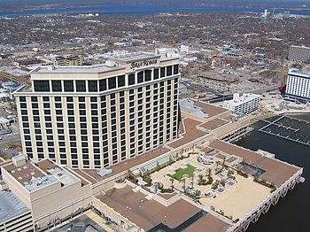 English: The Beau Rivage Hotel in Biloxi, Miss...
