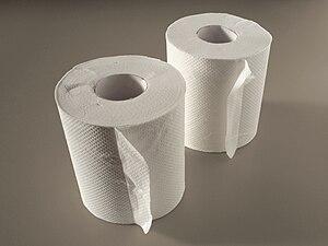 English: Toilet paper 日本語: トイレットペーパー