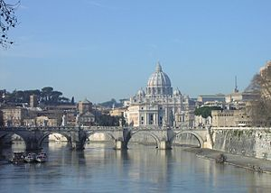 St. Peter's Basilica, believed to be the buria...