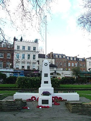 English: War Memorial - Islington Green. The b...
